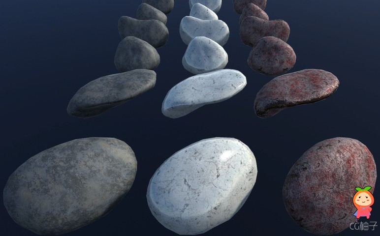 PBR exterior pack 60 stones and rocks