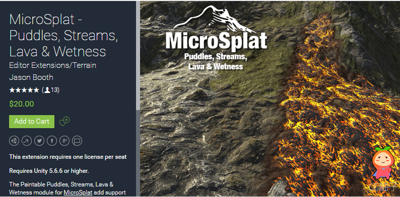 MicroSplat - Puddles, Streams, Lava & Wetness 2.6