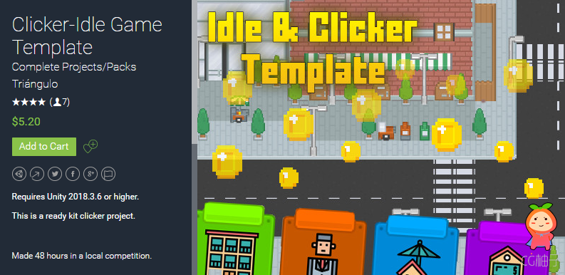 Clicker-Idle Game Template 2.4