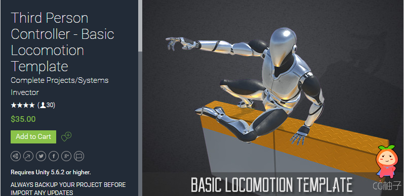 Third Person Controller - Basic Locomotion Template 2.4.1