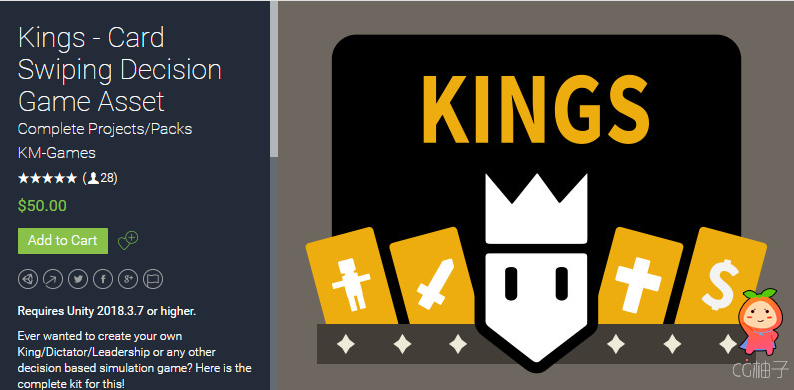 Kings - Card Swiping Decision Game Asset 1.52