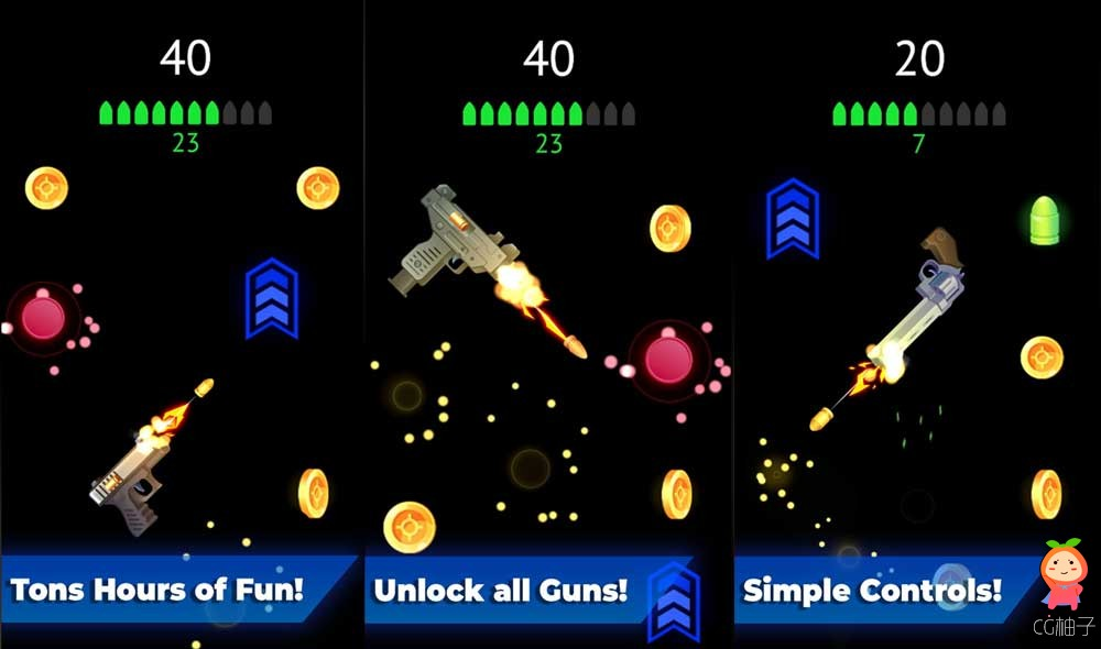 Flip The Gun - Arcade Unity 2017.4.8f1 Project