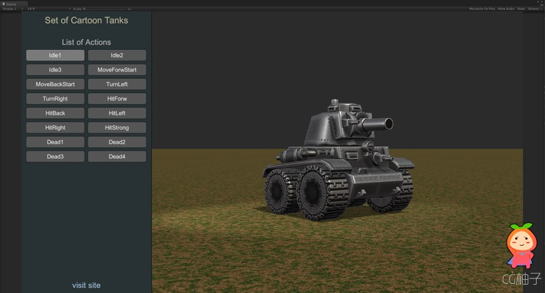 Set of Cartoon Tanks 1.4