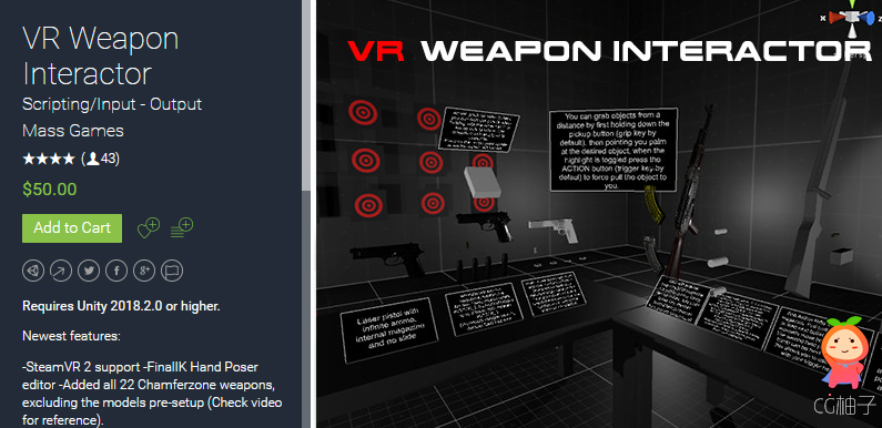 VR Weapon Interactor 2.6