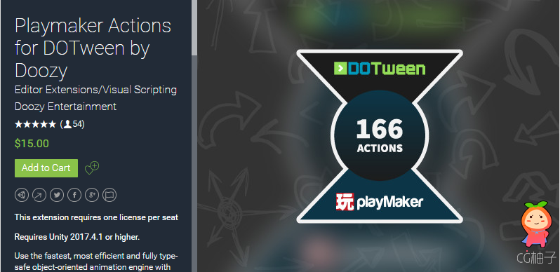 Playmaker Actions for DOTween by Doozy 1.5