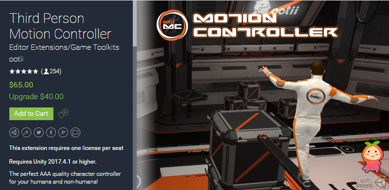 Third Person Motion Controller 2.804