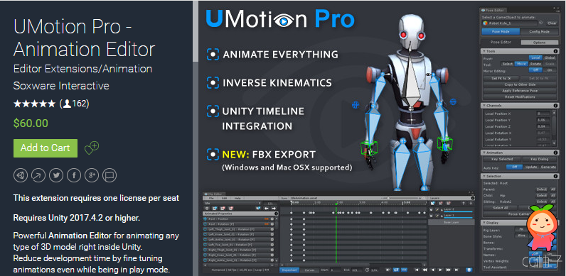 UMotion Pro - Animation Editor v1.20p03