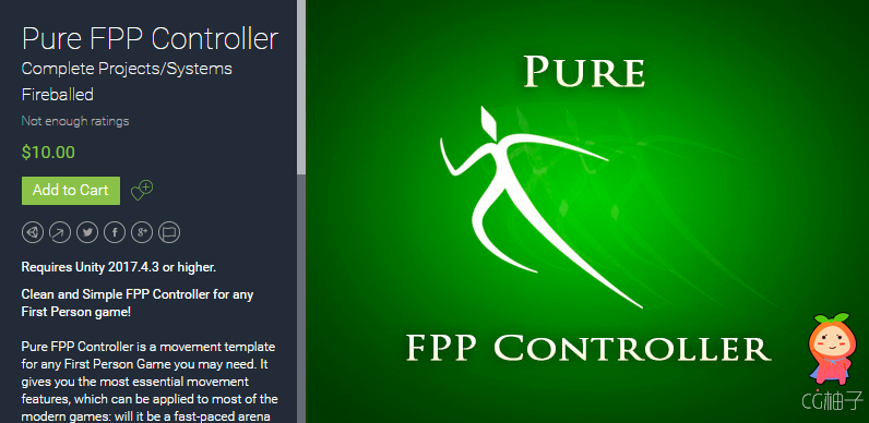 https://assetstore.unity.com/packages/templates/systems/pure-fpp-controller-71348