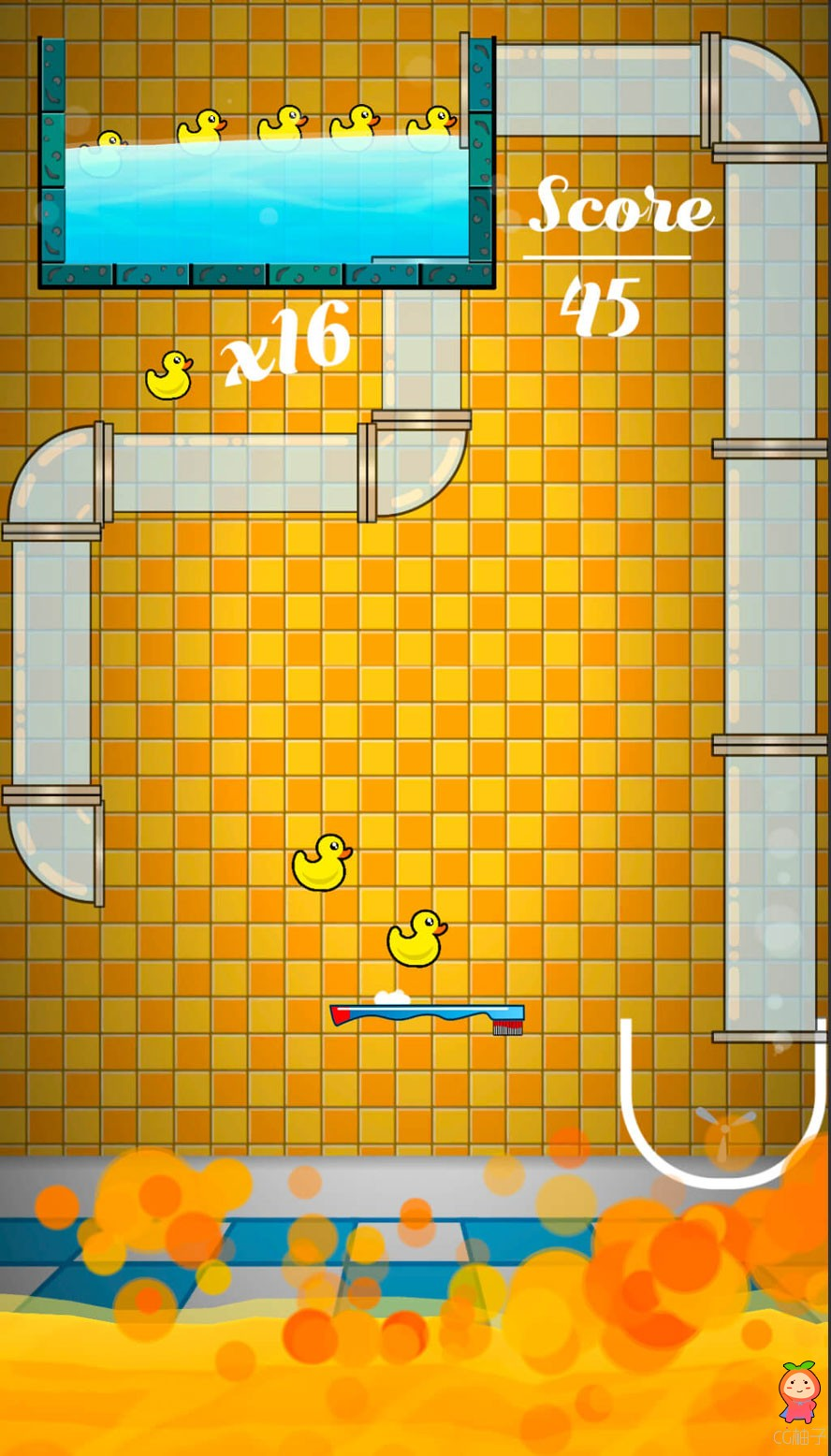 Ducky Duckie – Color Ballz Duck Reskin Unity 5.5小鸭子卡通休闲游戏