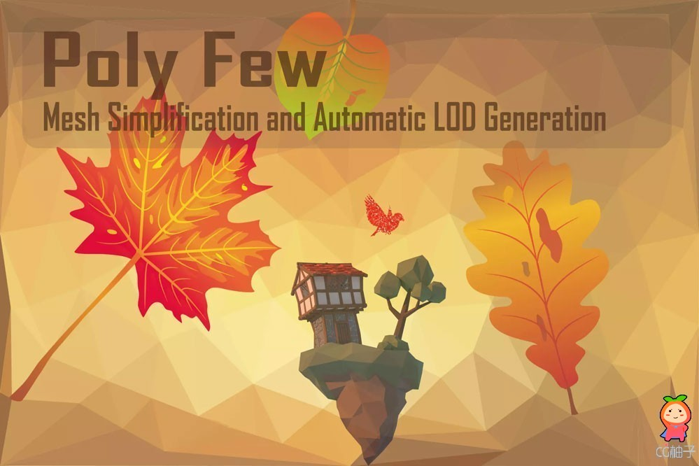 Poly Few Mesh Simplifier and Auto LOD Generator v5.9