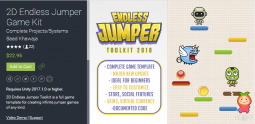 2D Endless Jumper Game Kit 3.0 unity3d asset Unity官网 unity插件下载