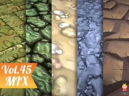 Stylized Ground Vol 45 - Hand Painted Texture Pack Texture地面纹理