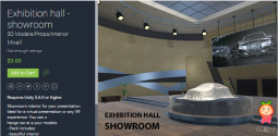 Exhibition hall - showroom 1.0 unity3d asset U3D插件 展览馆展厅模型