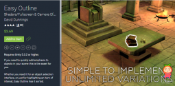 Easy Outline 2.2 unity3d asset Unity官网 unitypackage插件