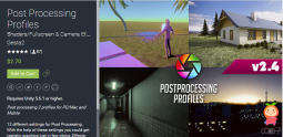 Post Processing Profiles 2.4 unity3d相机滤镜插件 Unity下载