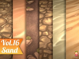Stylized Sand Vol 16 - Hand Painted Texture Pack Texture 手绘砂石纹理