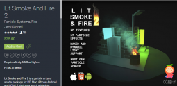 Lit Smoke And Fire 2 1.0 unity3d asset unity3d shader下载 Unity编辑器