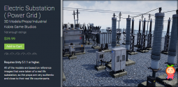 Electric Substation ( Power Grid ) 1.0 变电站PBR模型