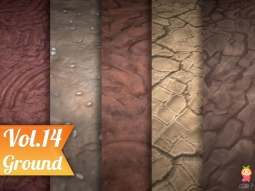 Stylized Ground Vol 14 - Hand Painted Texture Pack Texture风格化地面纹理
