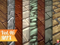 Stylized Ground Mix Vol 46 - Hand Painted Texture Pack Texture 地面材质