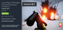 Low Poly FPS Pack 3.1 低多边形现代武器动画模型