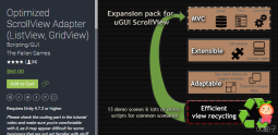 Optimized ScrollView Adapter (ListView, GridView) 3.0.2 unity3d asset U3D插件