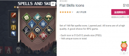 Flat Skills Icons 1.0 unity3d asset Unitypackage插件论坛 iOS开发