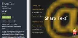 Sharp Text 1.1 unity3d asset Unity3d教程 Unitypackage插件论坛