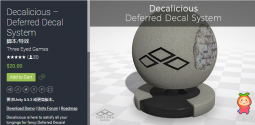 Decalicious – Deferred Decal System 1.5 unity3d asset U3D插件资源