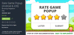 Rate Game Popup (Android & iOS) 1.1.0 Project 游戏星级评分弹窗