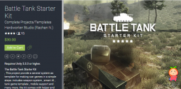 Battle Tank Starter Kit 1.0 unity3d asset 战斗坦克启动装置套件
