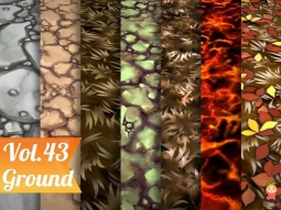 Stylized Ground Vol 43 - Hand Painted Texture Pack Texture风格化地面纹理