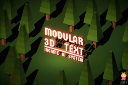 3D文字生成工具Modular 3D Text - In-Game 3D UI System 1.5.04
