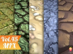 Stylized Ground Vol 45 - Hand Painted Texture Pack Texture 手绘地面纹理