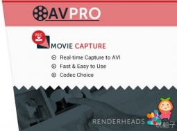AVPro Movie Capture 2.94.1 unity3d asset录制Unity游戏视频 U3D插件