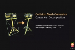 Collision Mesh Generator | Convex Decomposition 碰撞网格生成器