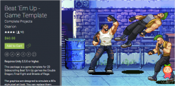 Beat 'Em Up - Game Template 1.1 unity3d asset Unity论坛 Unity3d shader下载