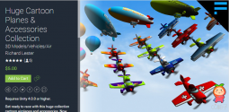 Huge Cartoon Planes & Accessories Collection 1.0.7 Edge 540飞机模型