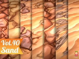 Stylized Sand Vol 40 - Hand Painted Texture Pack Texture 砂石手绘纹理