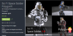Sci Fi Space Soldier PolygonR 1.2 科幻太空战士模型