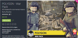 POLYGON - War Pack 1.0 unity3d asset 多边形战争场景模型 Unity官网