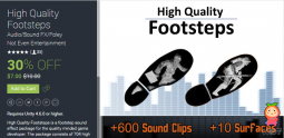 High Quality Footsteps 1.2 unity3d asset iOS开发 Unity3d插件官网