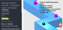 ZigZag Endless Runner - Complete Game Template 1.1.0 unity3d asset U3D插件