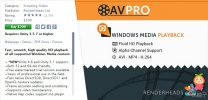 AVPro Windows Media 2.8 unity3d asset unity3d插件下载