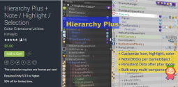 Hierarchy Plus + Note  Highlight  Selection 1.8 unity3d asset unity编辑器