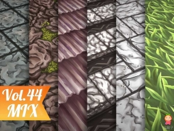 Stylized Mix Vol 44 - Hand Painted Texture Pack Texture手绘地面纹理包