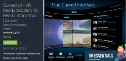 Curved UI - VR Ready Solution To Bend 2.8p1 弯曲面UI插件