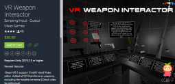 VR Weapon Interactor 2.6 虚拟现实武器交互器