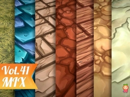 Stylized Mix Vol 41 - Hand Painted Texture Pack Texture地面手绘纹理