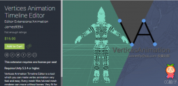 Vertices Animation Timeline Editor 1.0 unity3d asset Unity3d插件下载